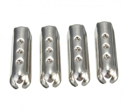 DIY 4x Metal Silver Lace Aglets